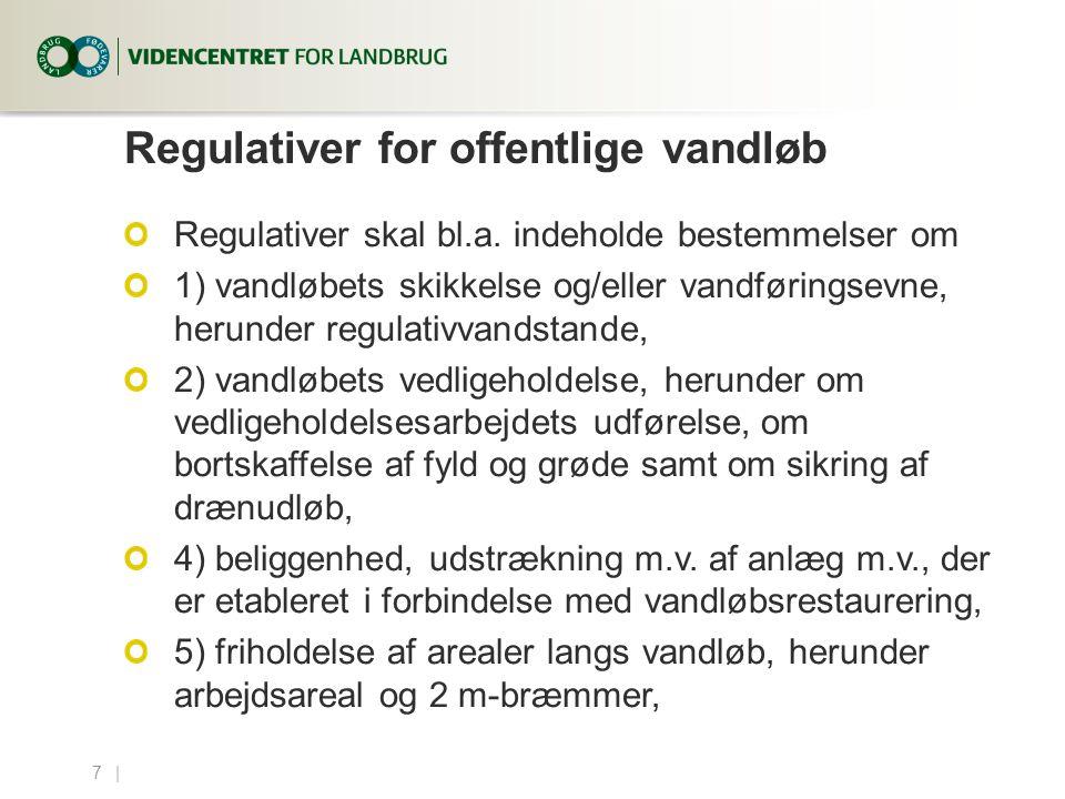Regulativer for offentlige vandløb