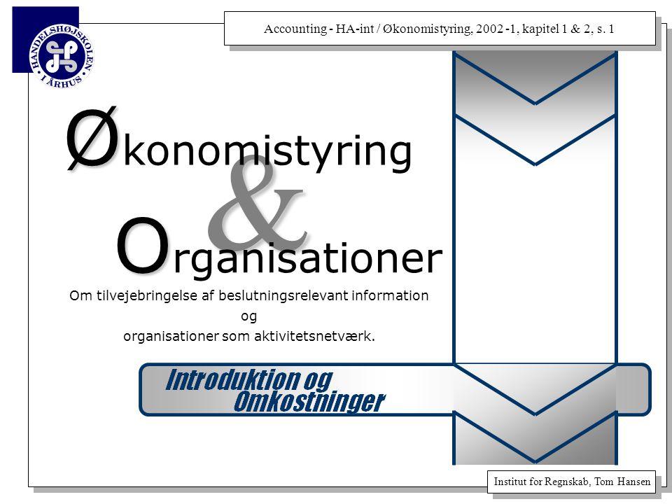& Økonomistyring Organisationer