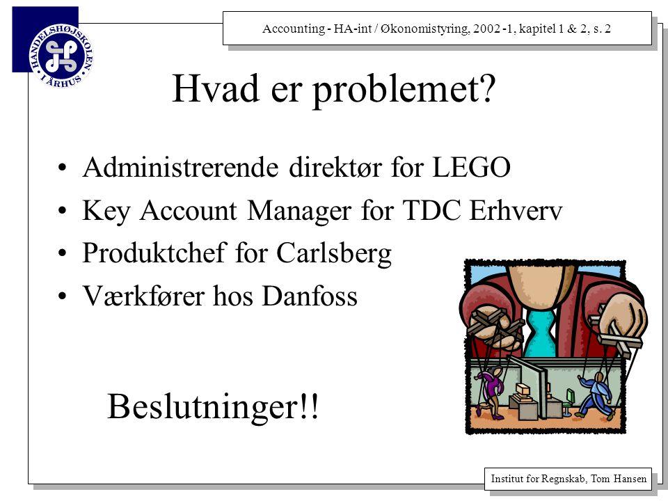 Hvad er problemet Beslutninger!! Administrerende direktør for LEGO