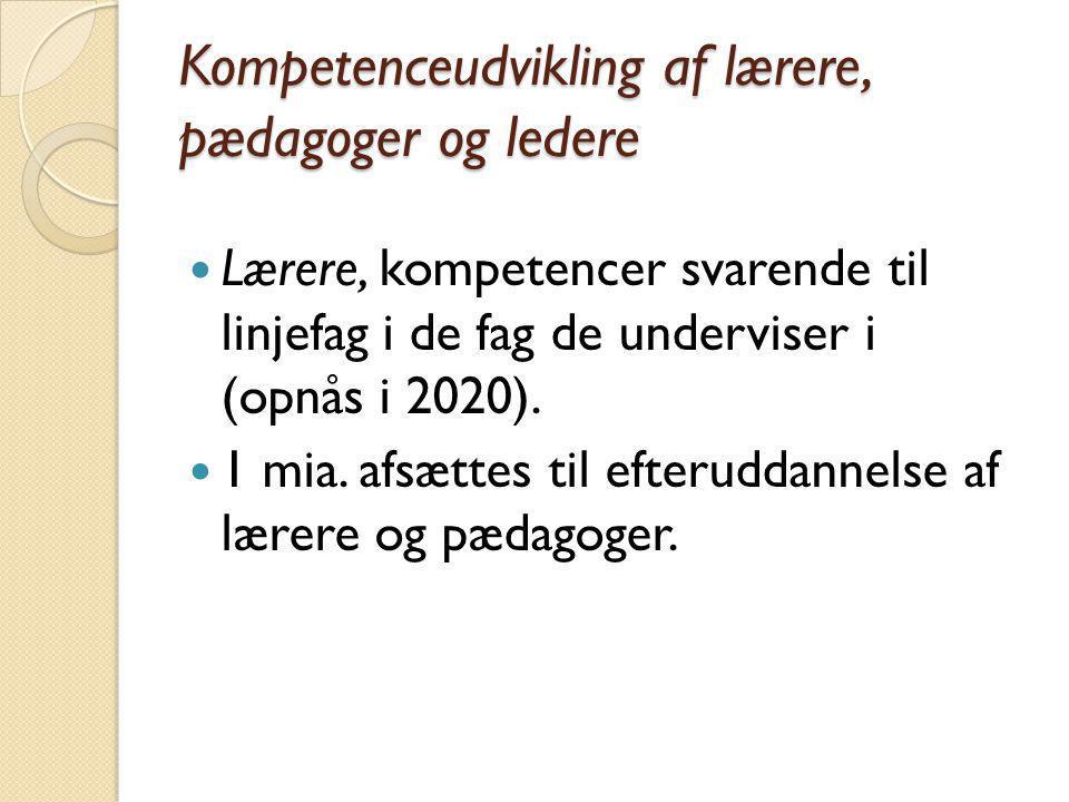 Kompetenceudvikling af lærere, pædagoger og ledere