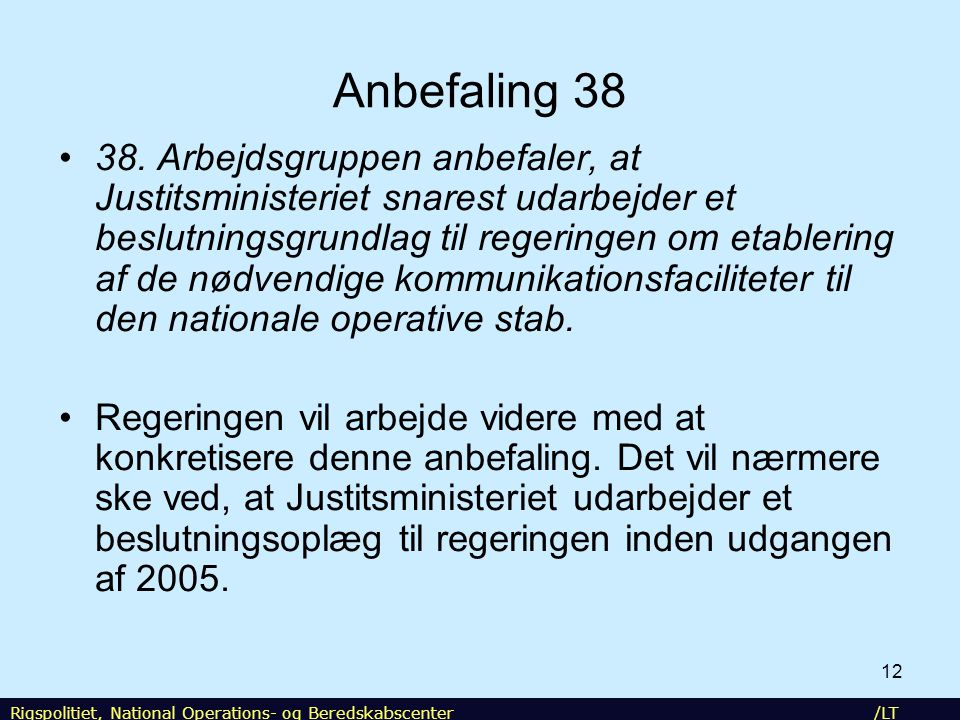 NOST Anbefaling 38.