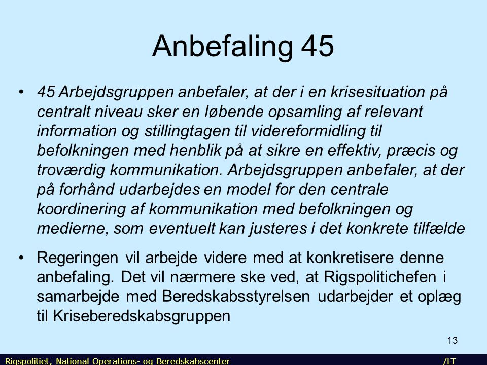 NOST Anbefaling 45.