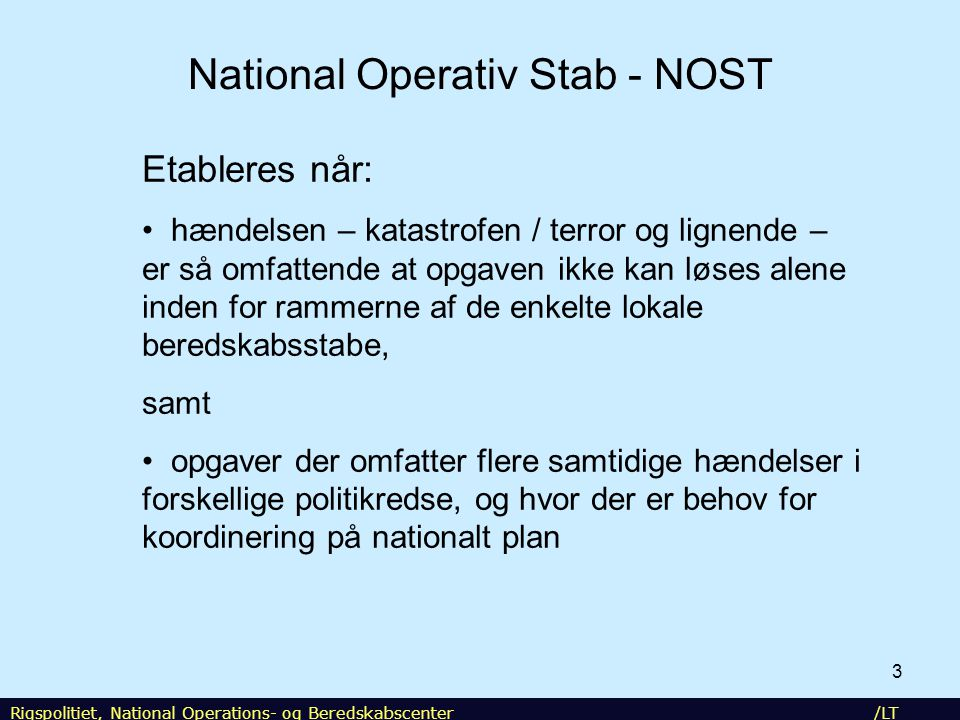 National Operativ Stab - NOST