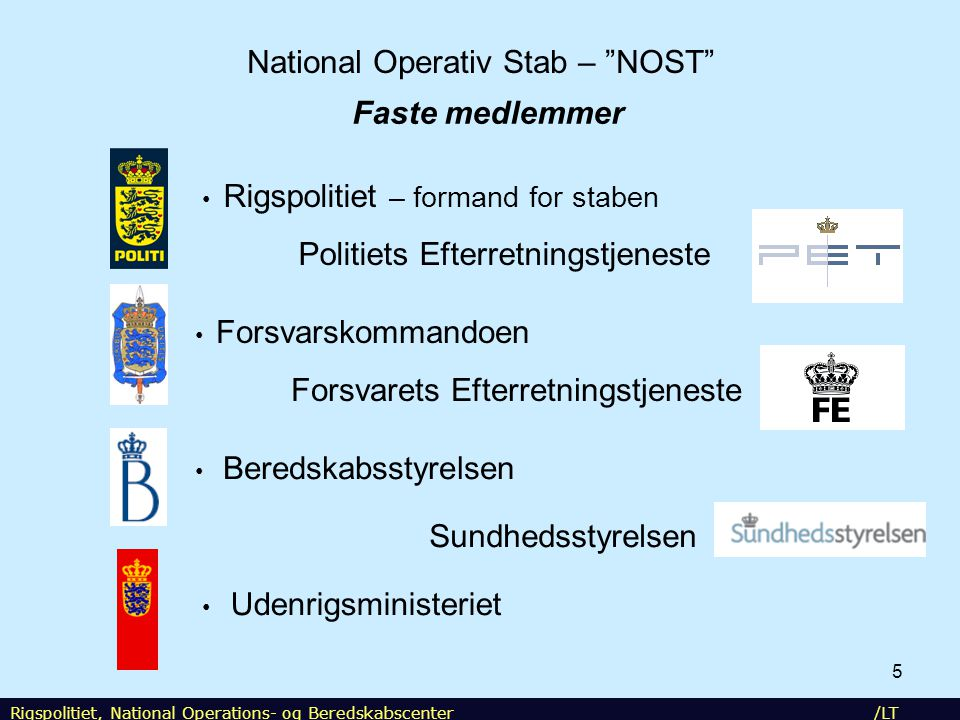 National Operativ Stab – NOST