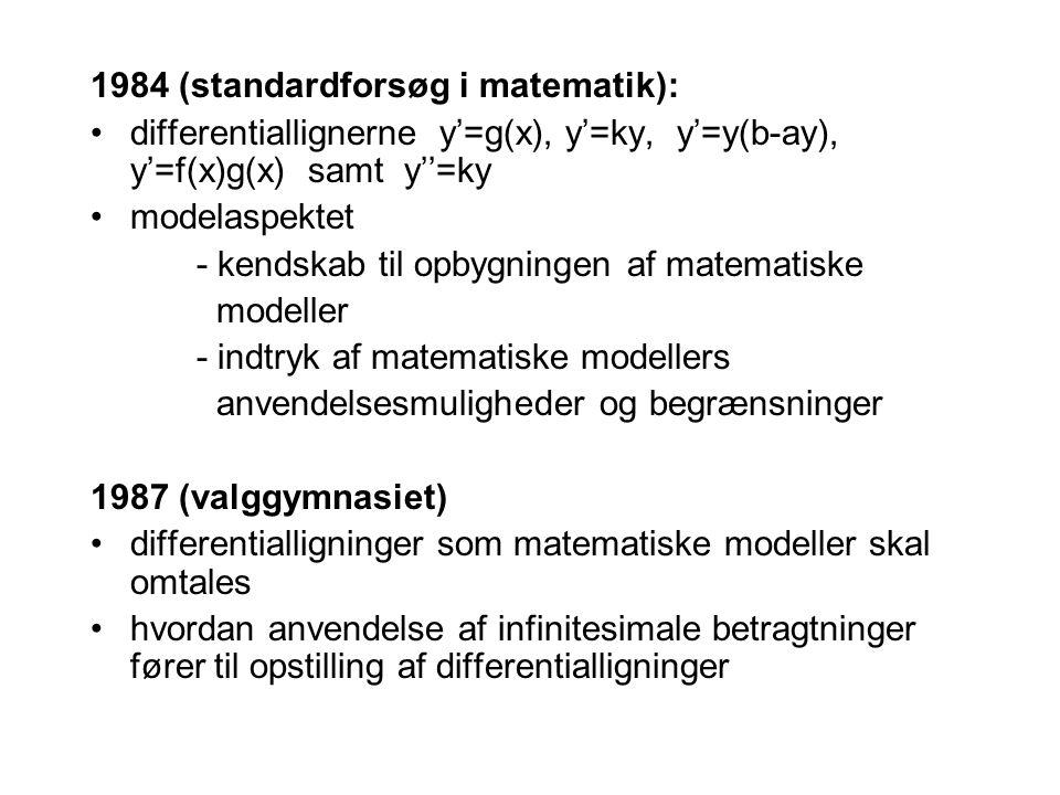 1984 (standardforsøg i matematik):
