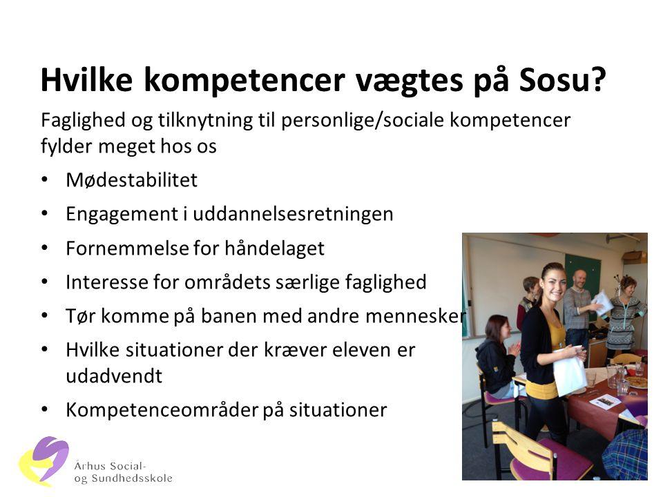 Hvilke kompetencer vægtes på Sosu