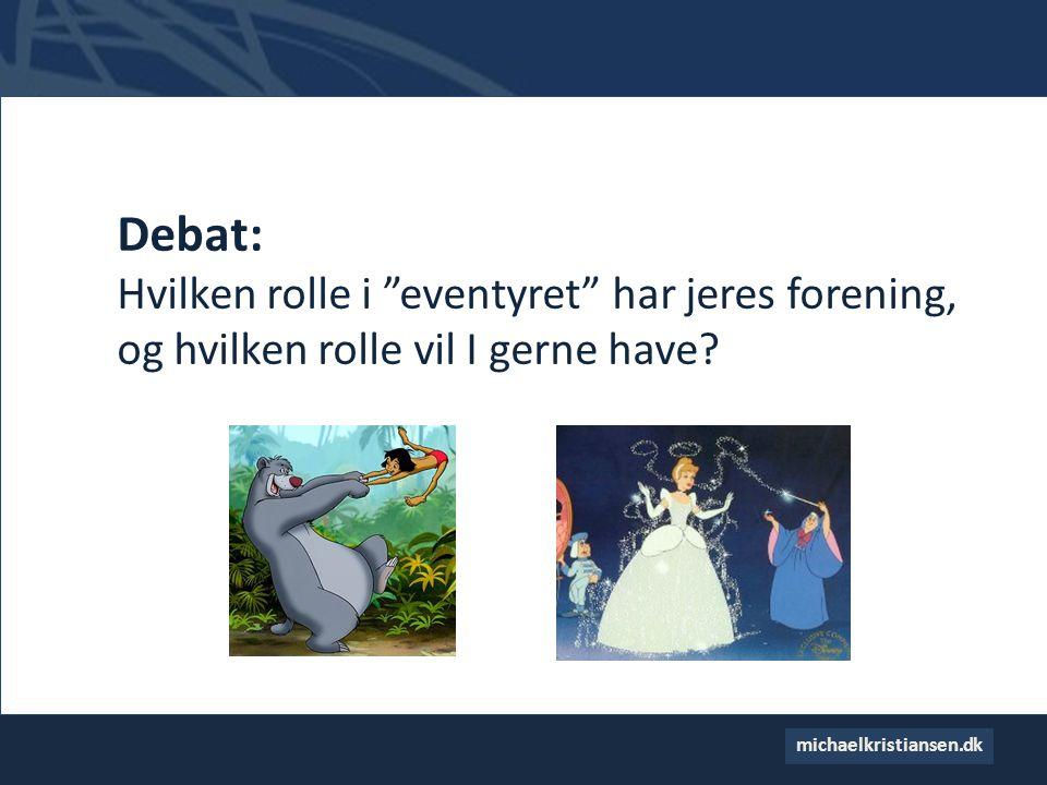 Debat: Hvilken rolle i eventyret har jeres forening, og hvilken rolle vil I gerne have