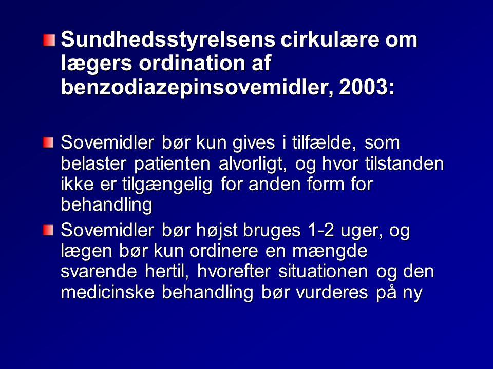 Sundhedsstyrelsens cirkulære om lægers ordination af benzodiazepinsovemidler, 2003: