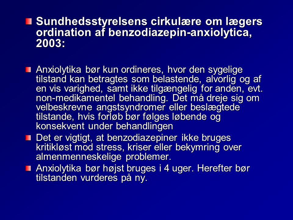 Sundhedsstyrelsens cirkulære om lægers ordination af benzodiazepin-anxiolytica, 2003: