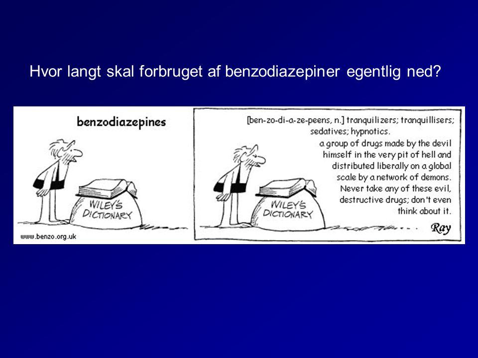 Hvor langt skal forbruget af benzodiazepiner egentlig ned