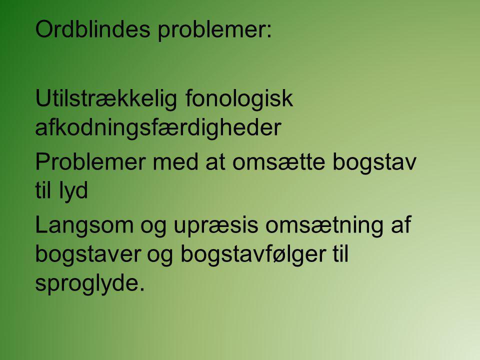 Ordblindes problemer: