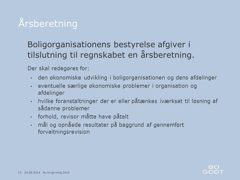 Årsberetning Boligorganisationens bestyrelse afgiver i tilslutning til regnskabet en årsberetning. Der skal redegøres for: