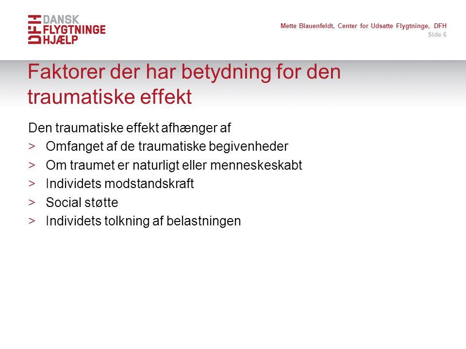 Faktorer der har betydning for den traumatiske effekt