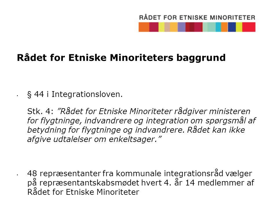 Rådet for Etniske Minoriteters baggrund