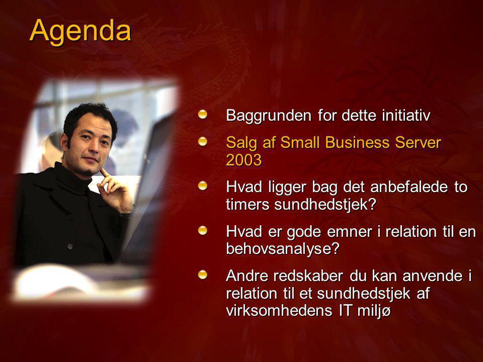 Agenda Baggrunden for dette initiativ