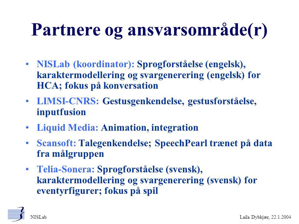Partnere og ansvarsområde(r)