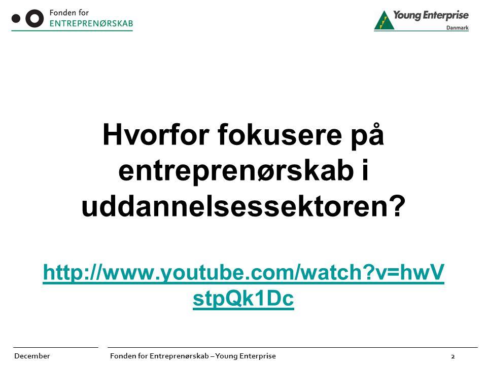 Hvorfor fokusere på entreprenørskab i uddannelsessektoren. http://www