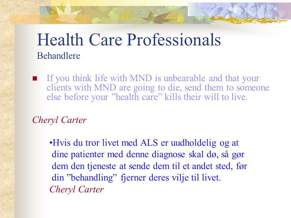 Health Care Professionals Behandlere