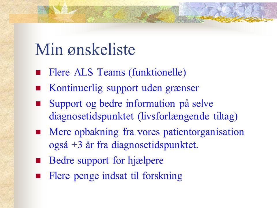 Min ønskeliste Flere ALS Teams (funktionelle)