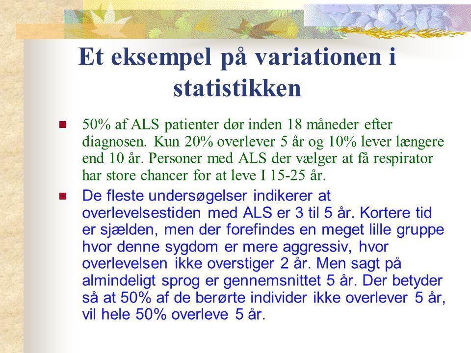 Et eksempel på variationen i statistikken