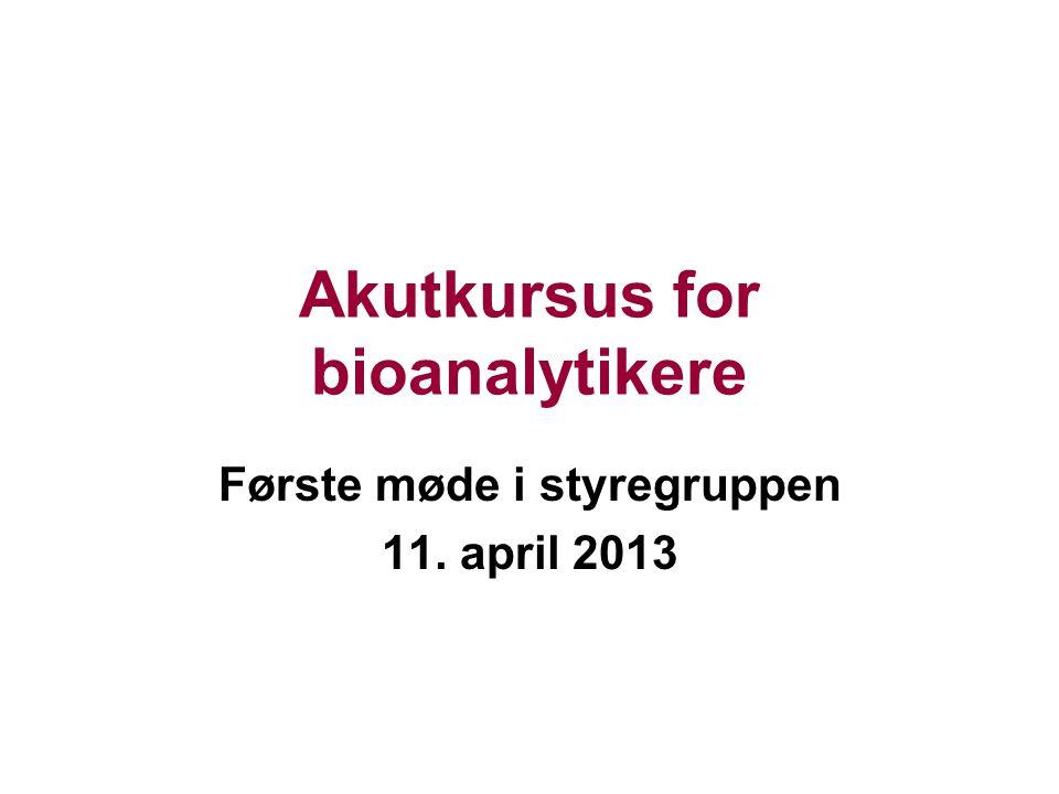 Akutkursus for bioanalytikere