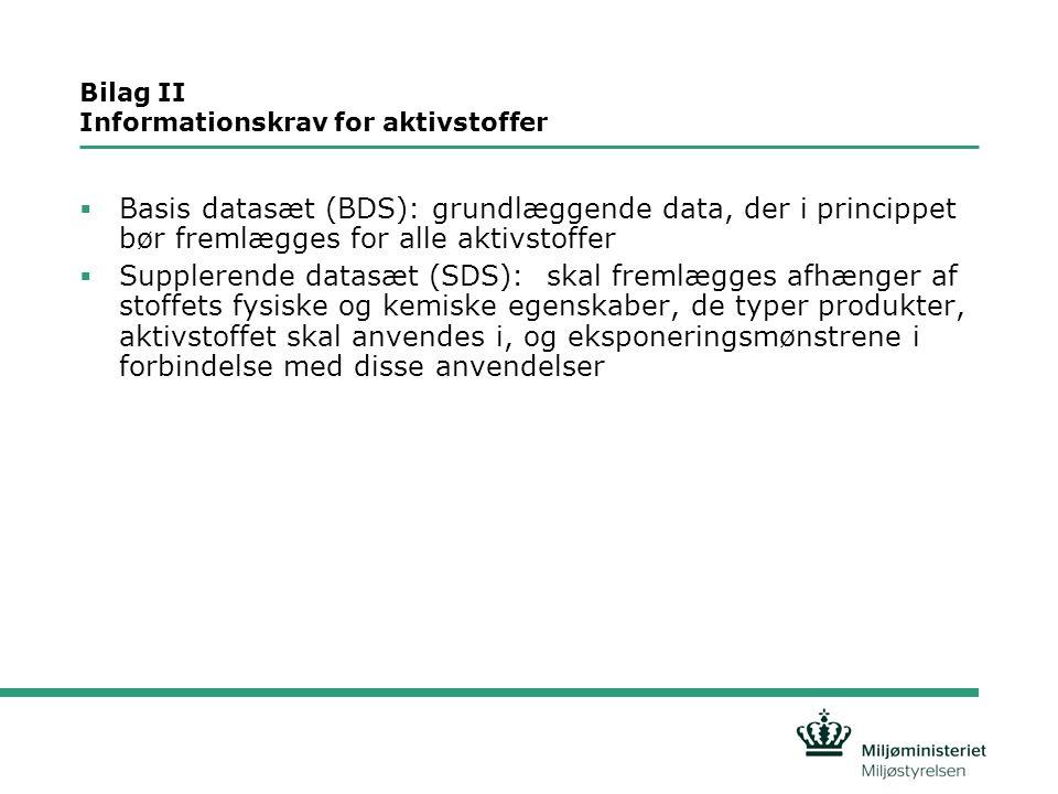 Bilag II Informationskrav for aktivstoffer