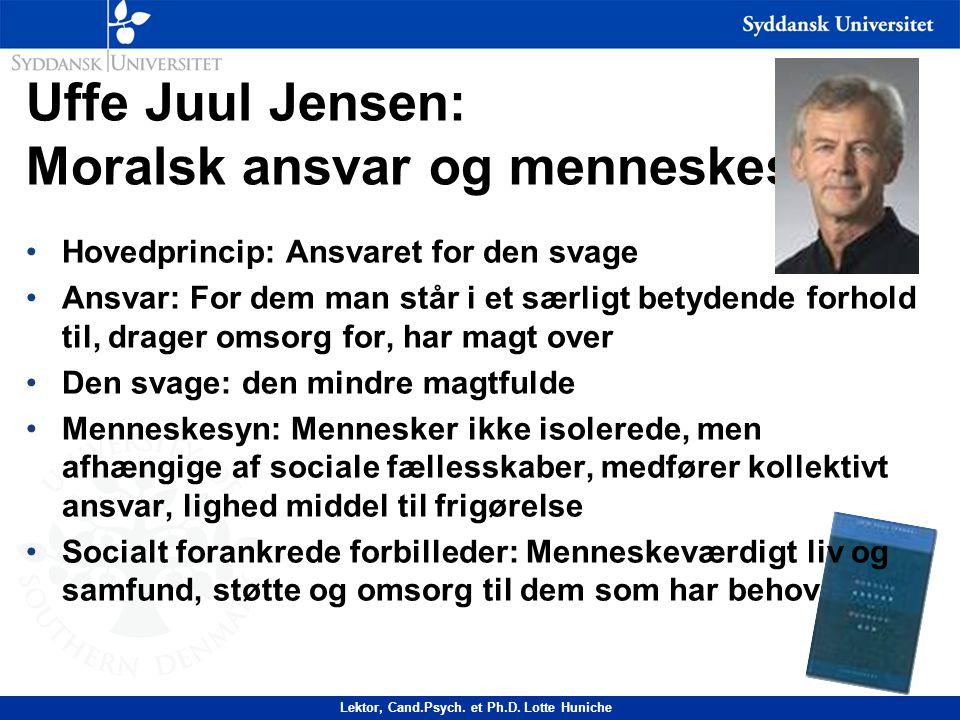 Uffe Juul Jensen: Moralsk ansvar og menneskesyn