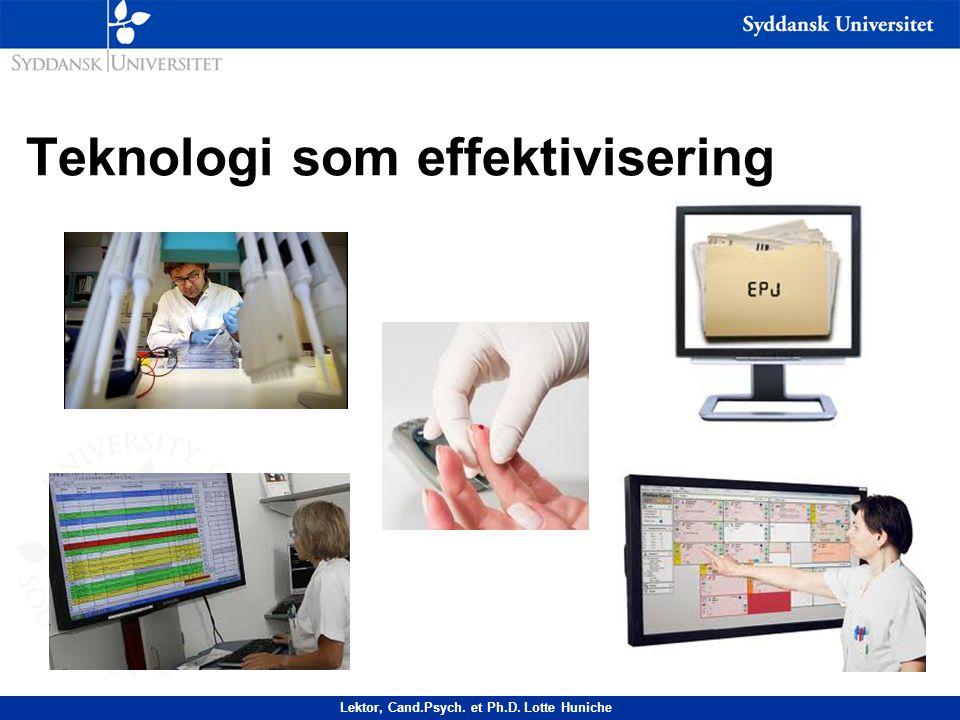 Teknologi som effektivisering