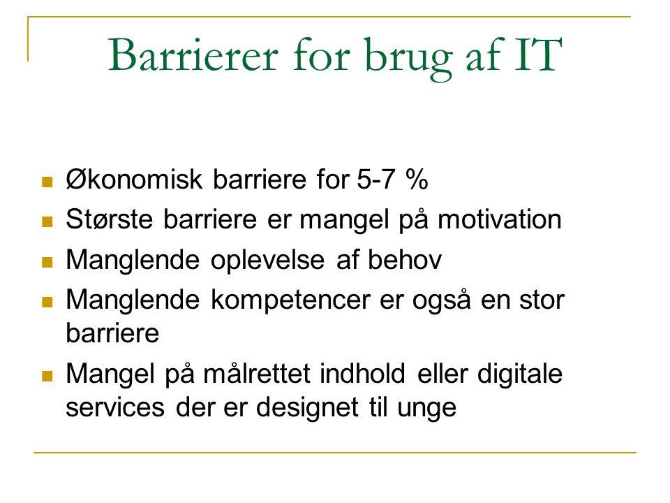 Barrierer for brug af IT