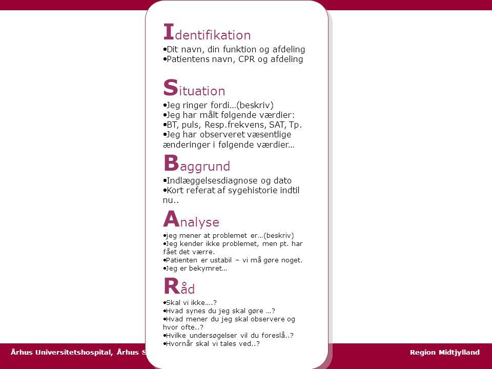 Identifikation Situation Baggrund Analyse Råd
