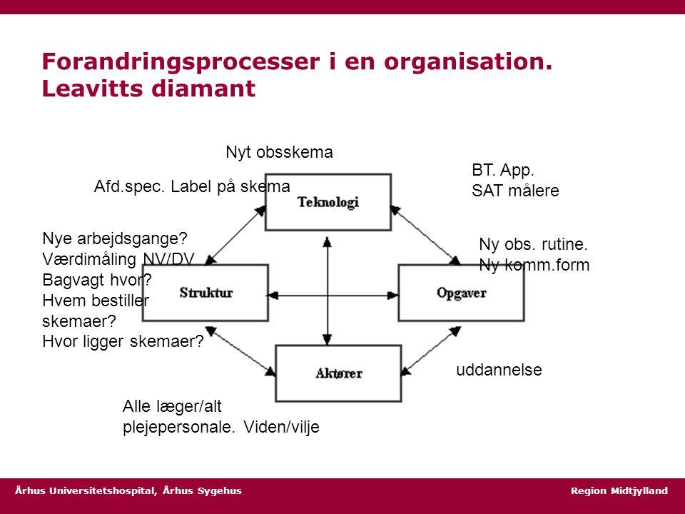 Forandringsprocesser i en organisation. Leavitts diamant