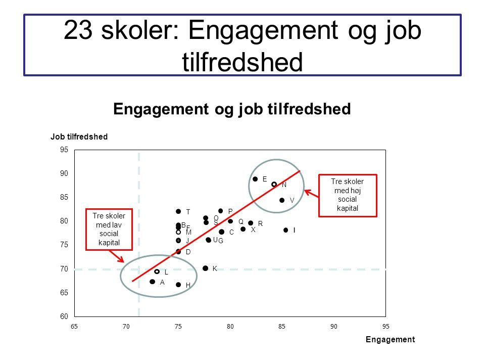 23 skoler: Engagement og job tilfredshed