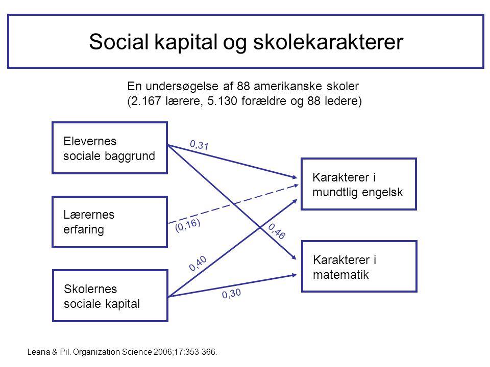 Social kapital og skolekarakterer