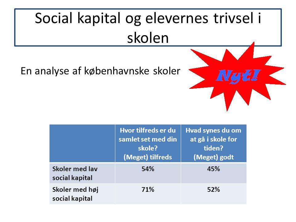 Social kapital og elevernes trivsel i skolen