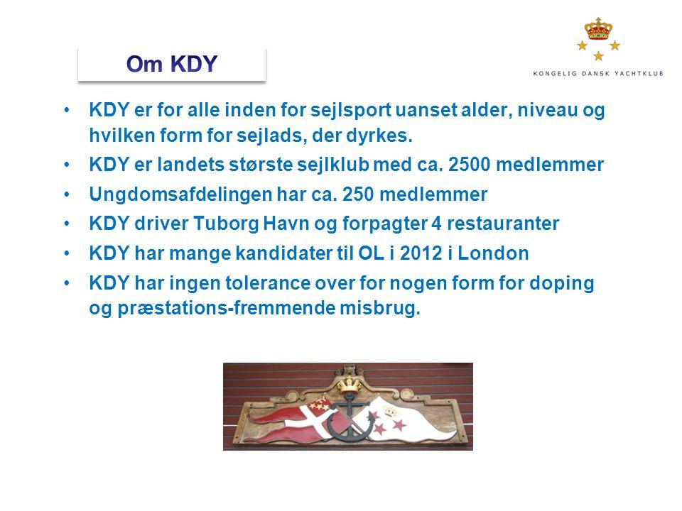 Om KDY KDY er for alle inden for sejlsport uanset alder, niveau og hvilken form for sejlads, der dyrkes.