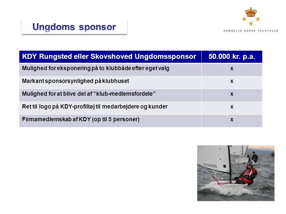 Ungdoms sponsor KDY Rungsted eller Skovshoved Ungdomssponsor
