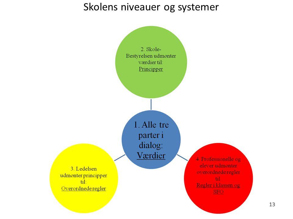 Skolens niveauer og systemer