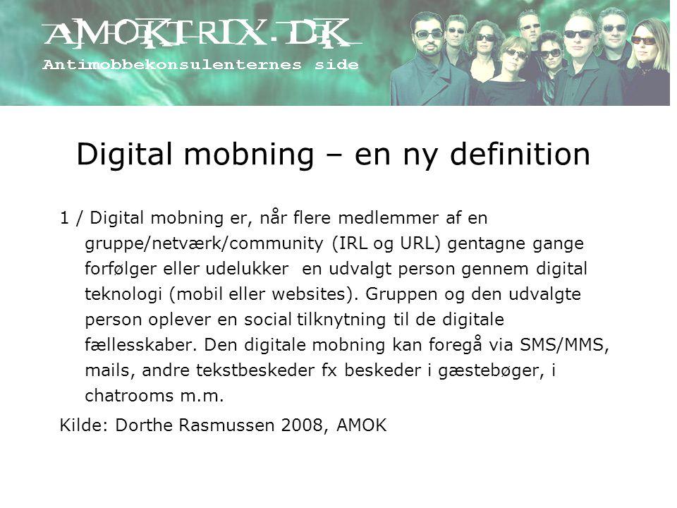 Digital mobning – en ny definition