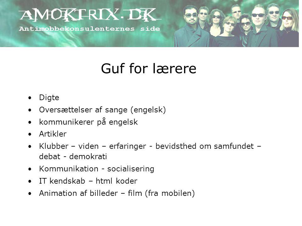 Guf for lærere Digte Oversættelser af sange (engelsk)