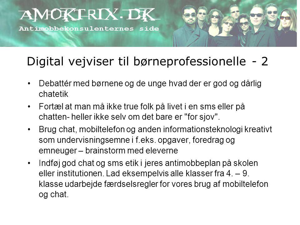 Digital vejviser til børneprofessionelle - 2