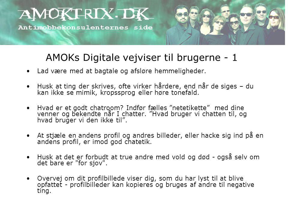 AMOKs Digitale vejviser til brugerne - 1