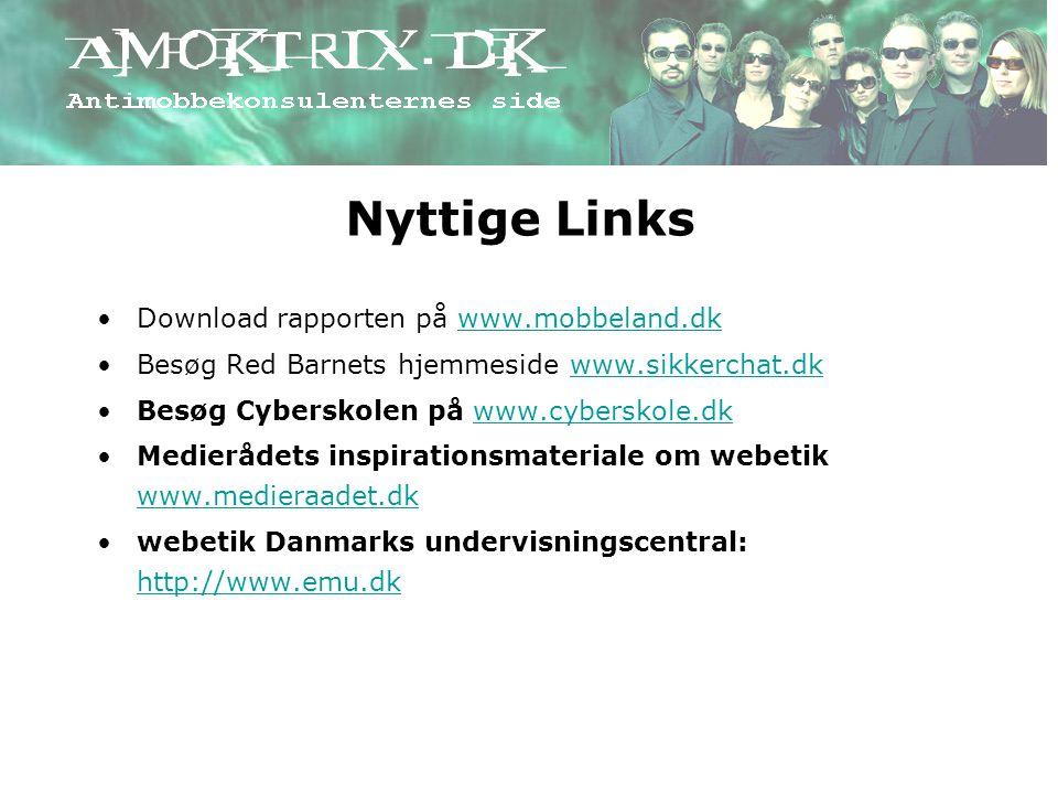 Nyttige Links Download rapporten på www.mobbeland.dk