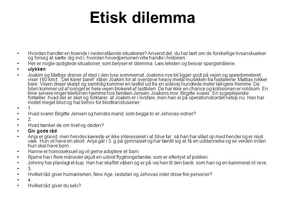 Etisk dilemma
