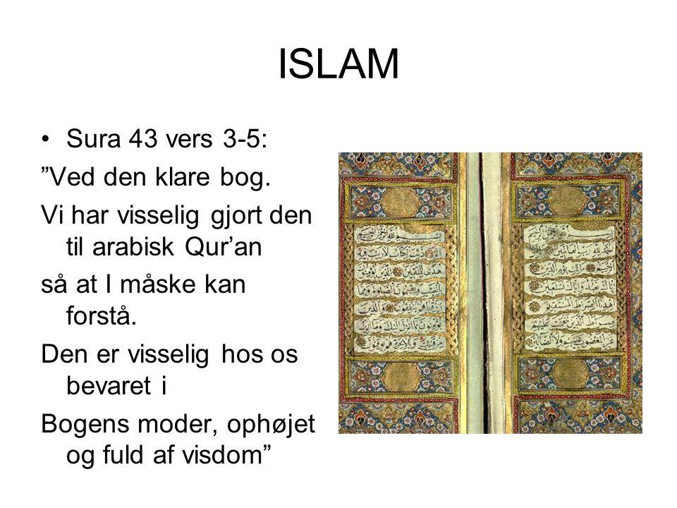 ISLAM Sura 43 vers 3-5: Ved den klare bog.