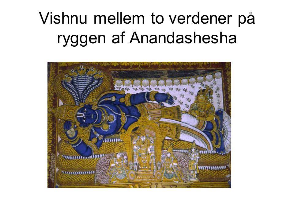Vishnu mellem to verdener på ryggen af Anandashesha