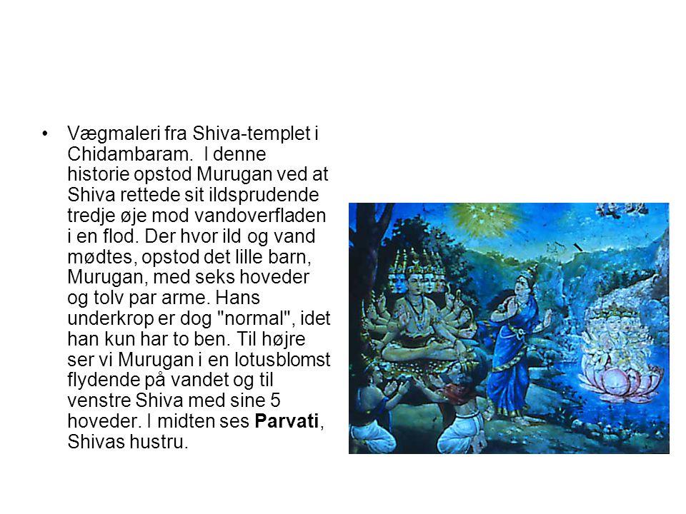 Vægmaleri fra Shiva-templet i Chidambaram