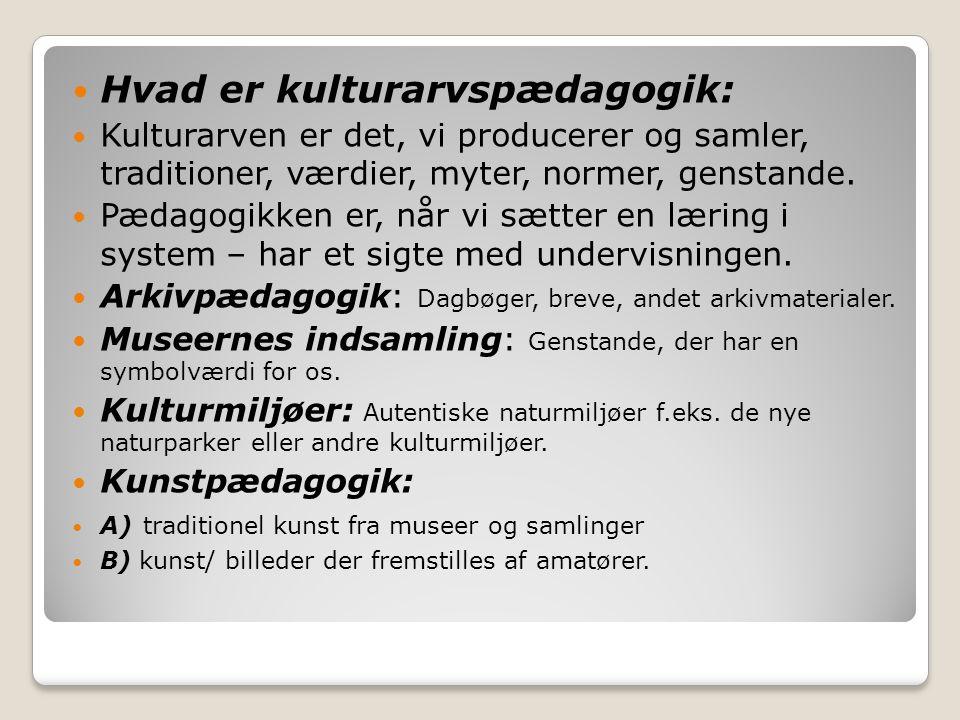 Hvad er kulturarvspædagogik: