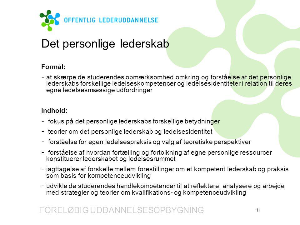 Det personlige lederskab