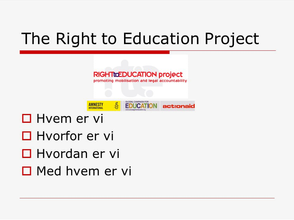 The Right to Education Project