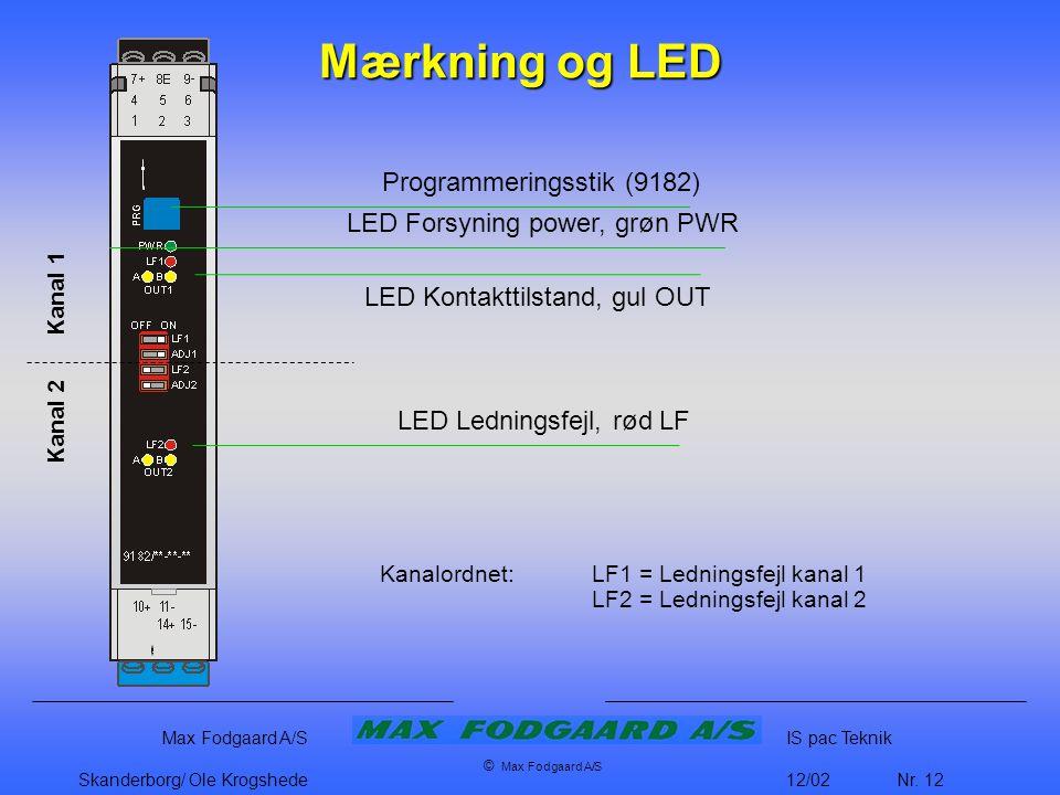 Mærkning og LED Programmeringsstik (9182)